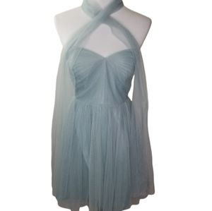 JENNY YOO COLLECTION Size 6 Strapless Tulle Dress